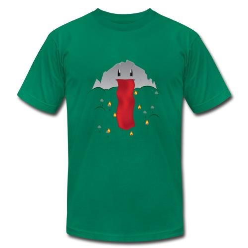 Volcano Vomiting Lava - Men's Fine Jersey T-Shirt