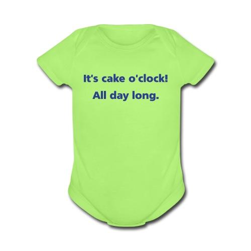 BABY: Cake o'clock - Organic Short Sleeve Baby Bodysuit