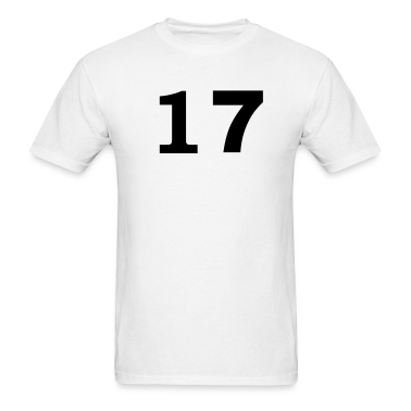 White number - 17 -seventeen T-Shirts