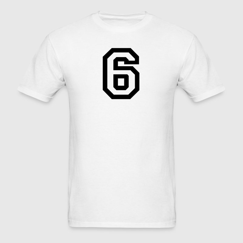 White number - 6 - six T-Shirts - Men's T-Shirt