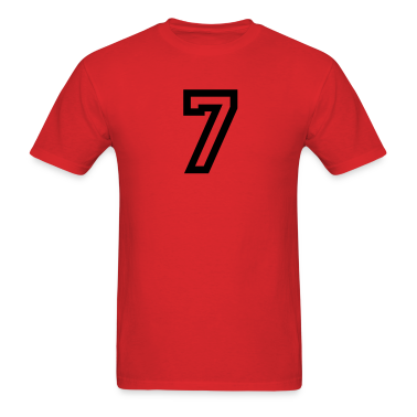 Red number - 7 - seven T-Shirts