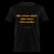 T-Shirts ~ Men's T-Shirt ~ Men's F: Cito sucks (black)