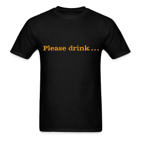 Men's F/B: Please drink.... (black) ~ 351