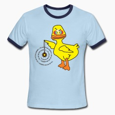 Sky/navy Hypno-Duck T-Shirts