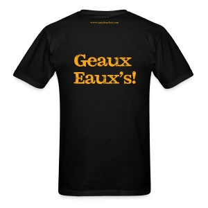Men's F/B: CC/Geaux Eaux's! (black) - Men's T-Shirt