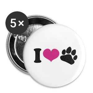 Small I Love Bear Buttons - Small Buttons