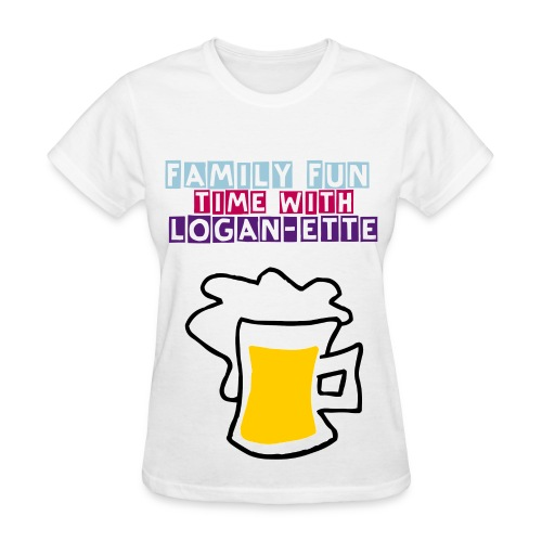 Female Family fun time with Logan-ette - Women's T-Shirt