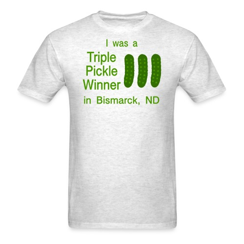funny random t-shirt pickle north dakota - Men's T-Shirt