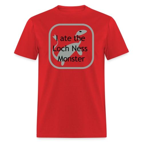 I ate the Loch Ness Monster, black letter - Men's T-Shirt