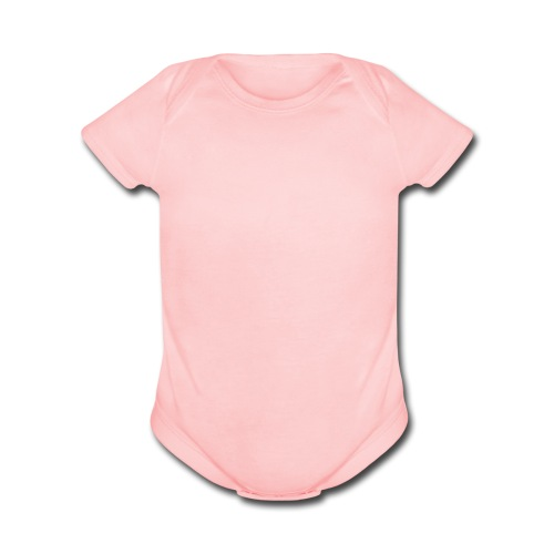 Baby Pink Short Sleeve One Piece - Organic Short Sleeve Baby Bodysuit