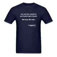 T-Shirts ~ Men's T-Shirt ~ JASON SPECIAL: You can't be a pirate