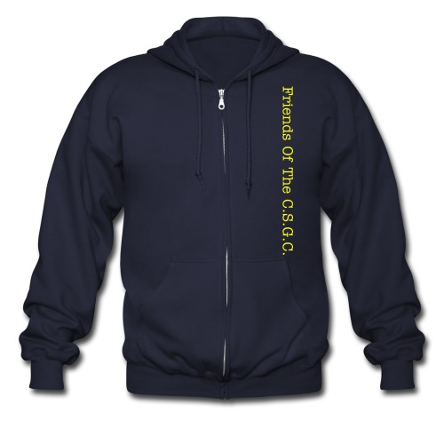 3 Xl T shirt For Men (Connecituct Small Game Club) Friends of the Club Mens Zipper Hoodie - Men's Zip Hoodie