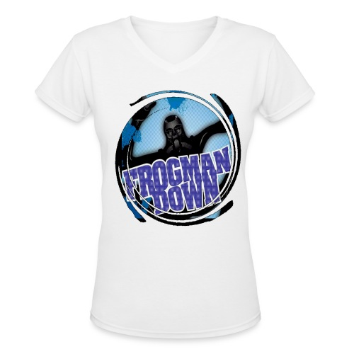 Frogman Women's Swirl V-neck - Women's V-Neck T-Shirt