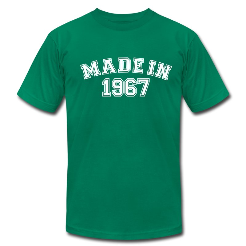 Made in 1967 t shirt spreadshirt for Made in t shirts