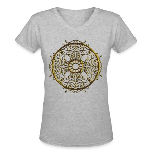 Vines on the Round - Women's V-Neck T-Shirt