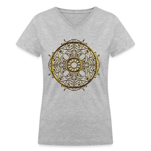 Vines on the Round - Women's V-Neck T-Shirt