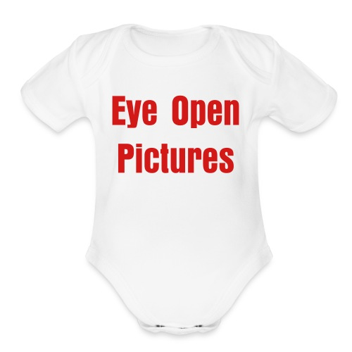 Eye Open Pictures One Piece - Organic Short Sleeve Baby Bodysuit