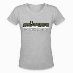 Gray Army Girlfriend Sexually Deprived For Your Freedom Women's T-Shirts
