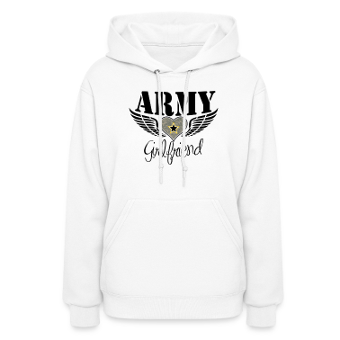 White Army Girlfriend Winged Heart Hoodies