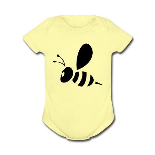 The Bee's Knees - Organic Short Sleeve Baby Bodysuit