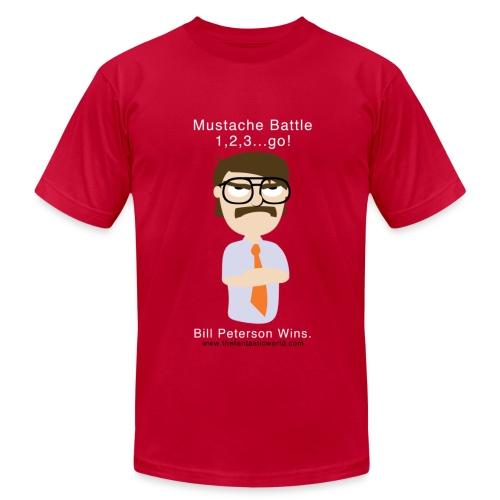 Mustache Battle - Men's  Jersey T-Shirt