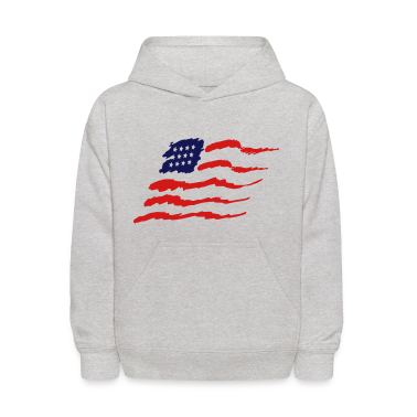 Heather grey american flag Sweatshirts