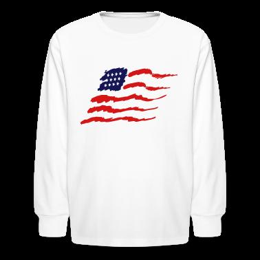 White american flag Kids' Shirts