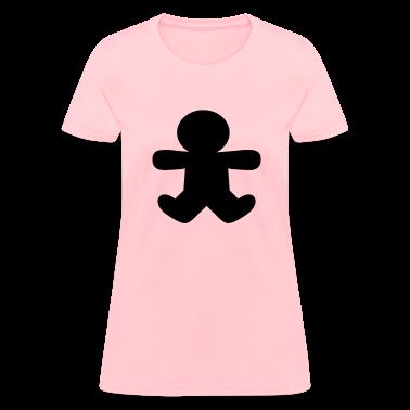 Pink gingerbread man shape Women's T-Shirts