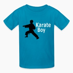 Karate Boy Kids Orange  T-shirt