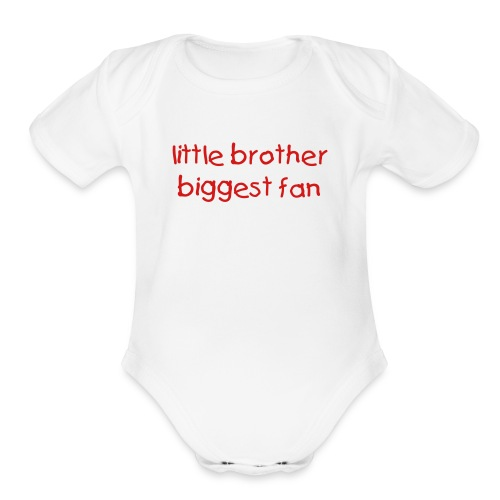 l'il brother  - Organic Short Sleeve Baby Bodysuit