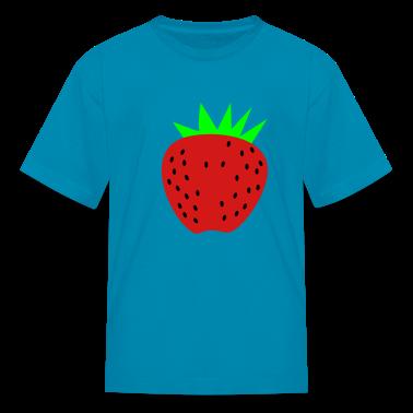 Yellow a strawberry Kids' Shirts