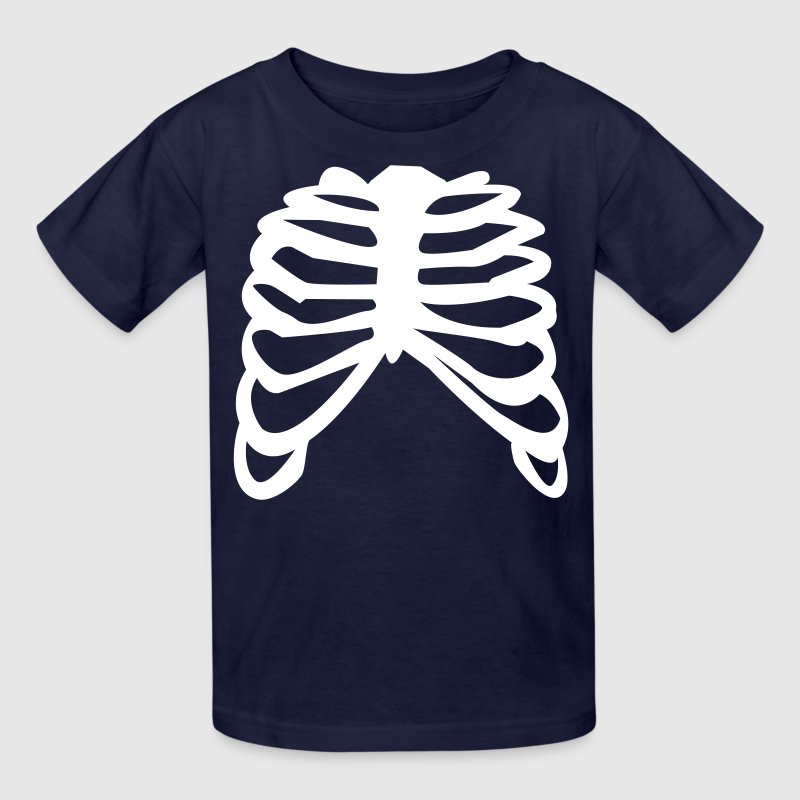 White Ribcage Ribs Design T Shirt Spreadshirt