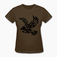 Brown tribal eagle Women's T-Shirts
