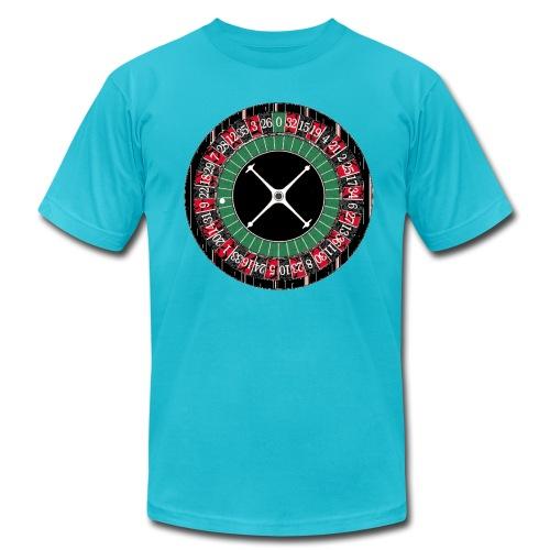 Mens Tee 'Roulette Wheel' (Yellow) - Men's Fine Jersey T-Shirt