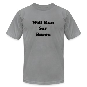 Will Run For Bacon - Men's T-Shirt by American Apparel