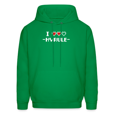 Green I Love Hyrule Hoodies
