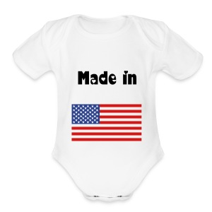 American made - Short Sleeve Baby Bodysuit