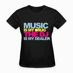Black Music Is My Drug V4 Women's T-Shirts