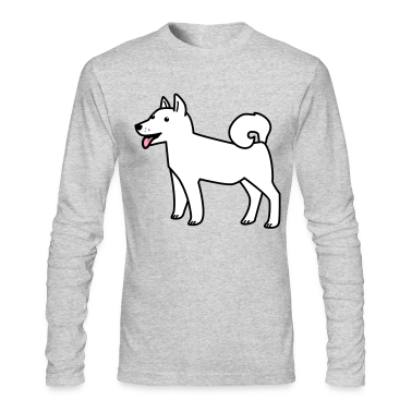 Brown white husky dog wolf Long Sleeve Shirts