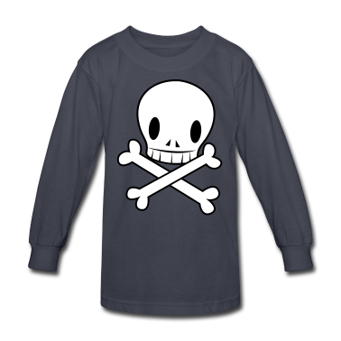 Navy crossbones funky with wicked EMO skull cool Kids' Shirts