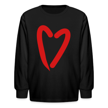 Black funky as trendy red heart Kids' Shirts