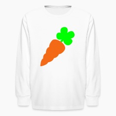 White a healthy orange carrot vegetable Kids' Shirts