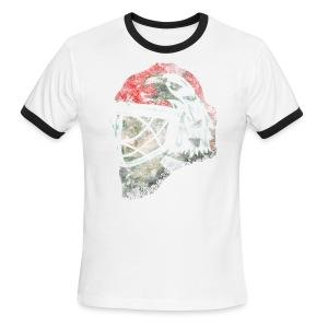 Chicago Eagle Goalie Mask Men's AMerican Apparel Ringer Tee - Men's Ringer T-Shirt