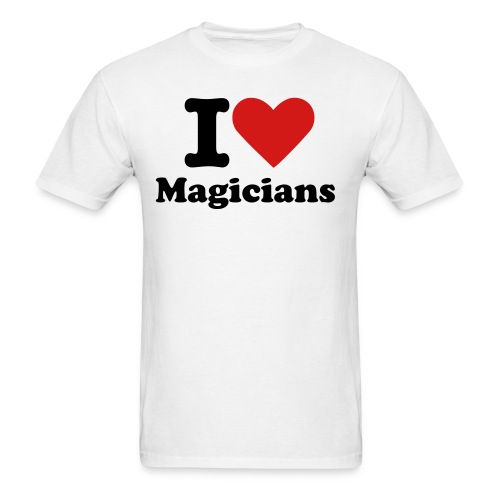 I Heart Magicians White T-Shirt - Men's T-Shirt