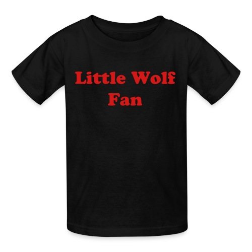 Little Wolf, Blk Children's Tee - Kids' T-Shirt