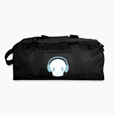 Black DJ skull with headphones  Bags