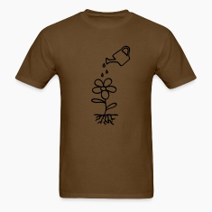 Brown flower water environment T-Shirts