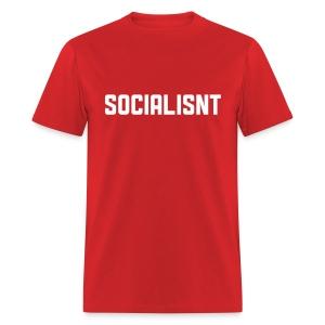 Socialisnt Shirt (red) - Men's T-Shirt