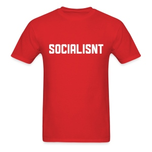 Socialisnt Shirt (red) - Men's T-Shirt