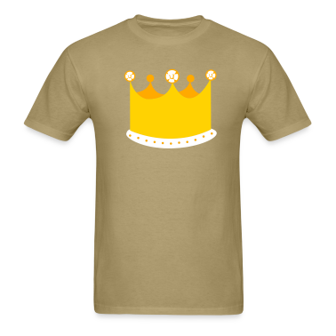 Khaki a tall king crown T-Shirts